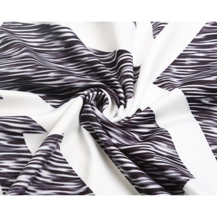 Womens Print V Neck Strappy Sleeveless Loose Beach Sundress Swing Short Mini Dress Long Vest Tops 2ISOAH Taille-36