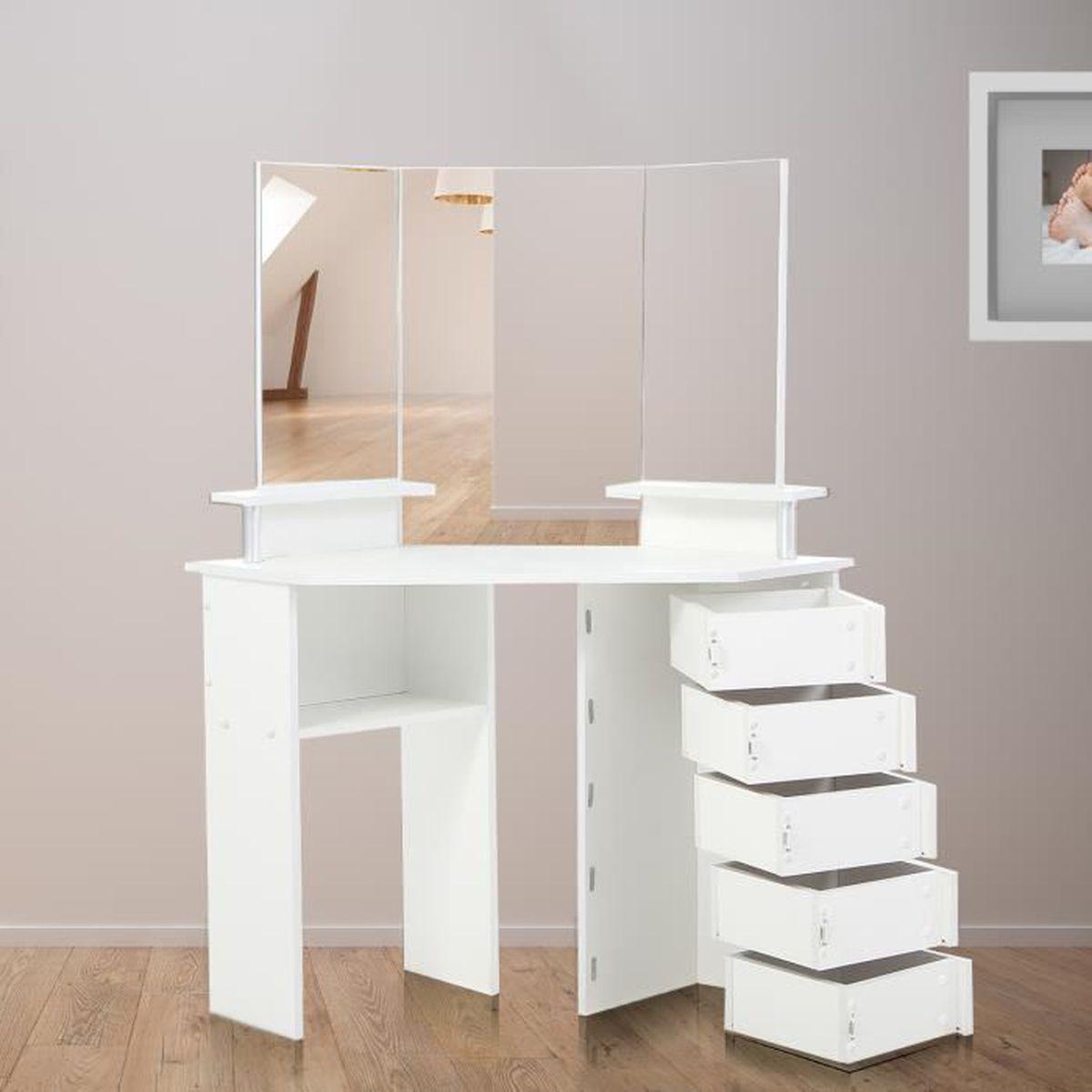 Commode avec miroir chambre - Achat / Vente pas cher