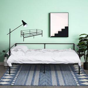 STRUCTURE DE LIT Lit adulte contemporain en métal -Canapé lit-Simpl