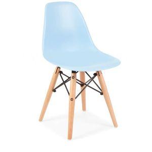 CHAISE Chaise inspiration DSW pour enfants (Bleu)