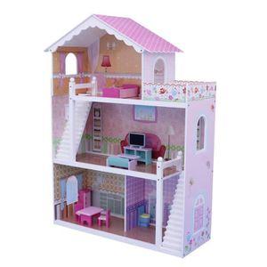 MAISON POUPÉE Maison de Poupée pour enfants avec Meubles & Escal