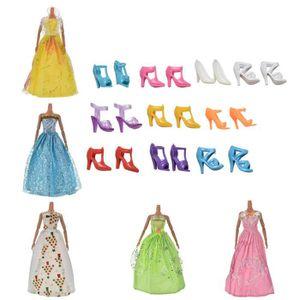 ACCESSOIRE POUPÉE jouet robe de mariage pour poupées Barbie 5 Pcs Ro