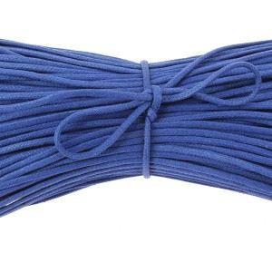 LACET  lacets ronds coton ciré couleur bleu King - 40c…