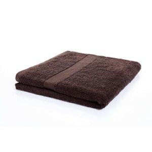 SERVIETTES DE BAIN etérea serviette de bain 70x140 cm brun foncé coto