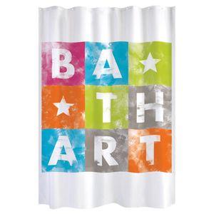 RIDEAU DE DOUCHE GELCO Rideau de douche Bath Art 180 x 200 cm multi