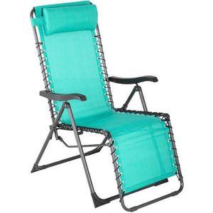 fauteuil jardin fauteuil de jardin relax silos emeraude - Relax De Jardin