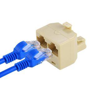 CÂBLE RÉSEAU  Adaptateur de réseau Ethernet RJ45 à double port R