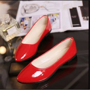 BALLERINE Chaussures Ballerine Femme en Cuir Verni