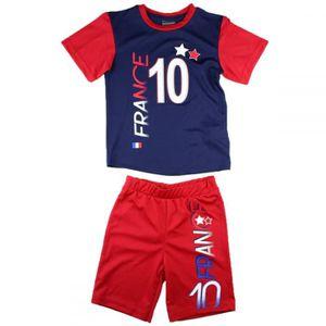 1ac3e720dc6f9 Ensemble de vêtements France 2 étoiles T shirt + Short enfant été