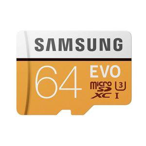 CARTE MÉMOIRE Samsung carte Micro SD Adapt SD Evo 64Go U3 100Mo/