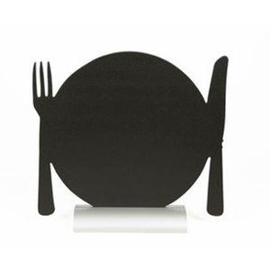 CHEVALET DE TABLE Silhouette de table avec socle aluminium ASSIETTE
