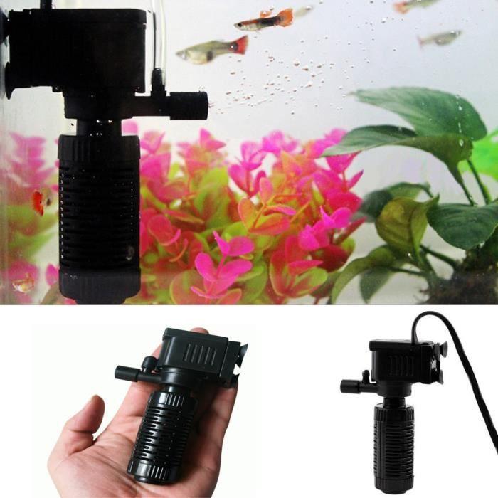 3in1 Aquarium Filtre Interne Oxygène Pompe Submersible Eau Pour Les Poissons Étang Réservoir @balenced3412