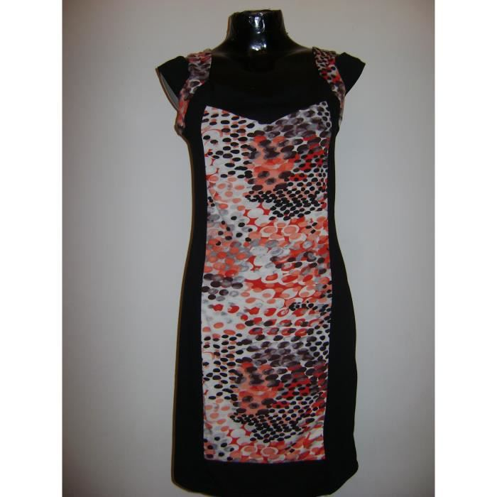 ROBE BRETELLES BAMBOOS COLOREE TAILLE L = 42