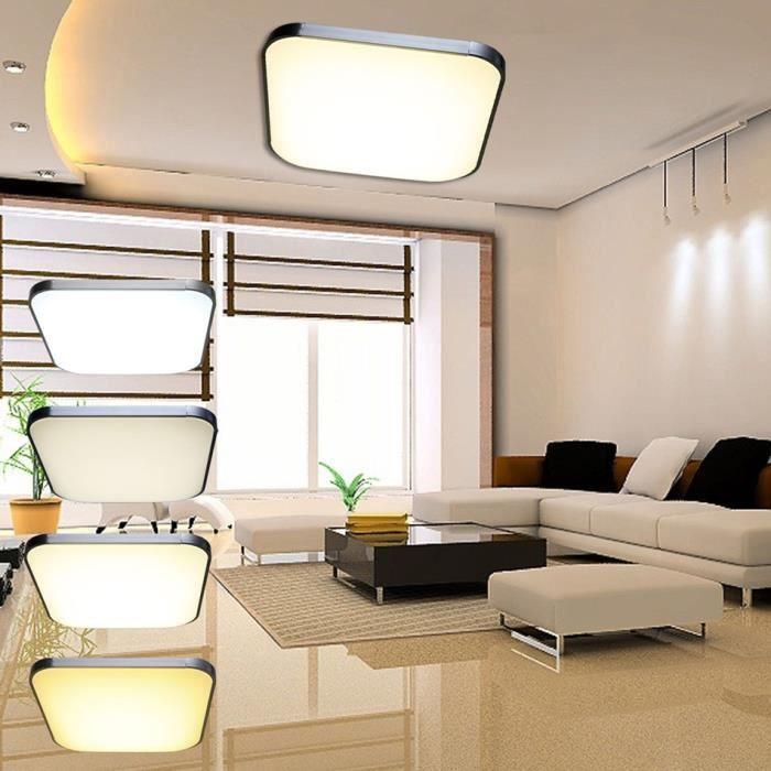 Lampe de plafond 54w lampe led plafonnier lumi re salon avec t l commande achat vente lampe - Veilleuse lumiere plafond ...