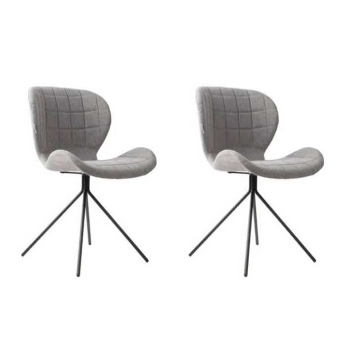 Zuiver chaise omg grise achat vente chaise soldes d s le 9 janvier cdiscount for Chaise zuiver