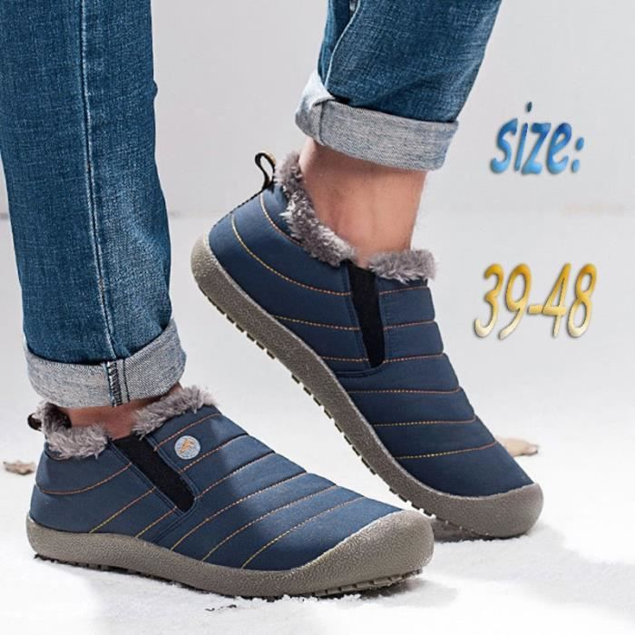 Populaire chaudes Mode Chaussures Homme Bottes Chaussures de Chaussures d'hiver neige imperméables qHACwrqE