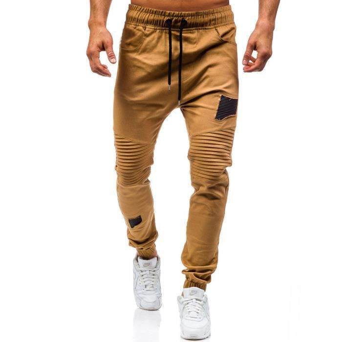 060448256a3 Minetom Homme Casual Jogging Chino Pantalons Sport Slim Fit Sarouel ...