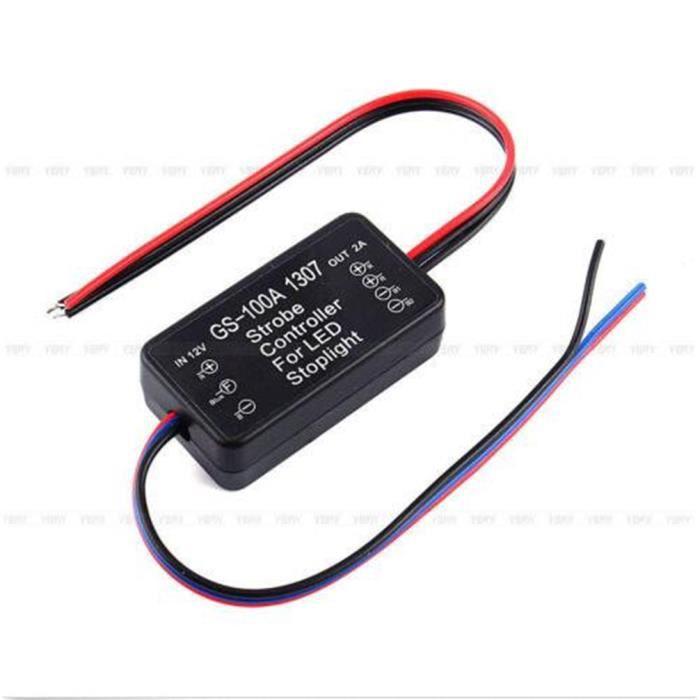 gs 100a 1307 voiture led frein feu flash stroboscope clignotant module de contr leur achat. Black Bedroom Furniture Sets. Home Design Ideas