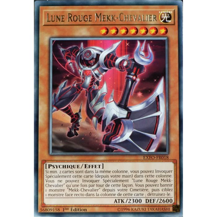 carte yu gi oh exfo fr018 lune rouge mekk chevalier neuf fr achat vente carte a. Black Bedroom Furniture Sets. Home Design Ideas