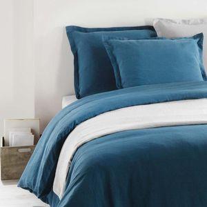 Housse de couette bleu canard housse de couette bali bleu - Housse de couette 200x220 ...