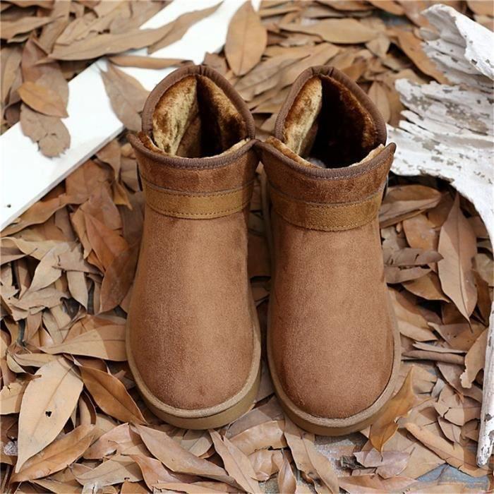 neige Boucle Chaussures les Slip Mode d'amant non de Casual pour hommes Bottes Bottes qxEf4