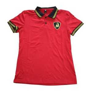 SODIAL(R) NOUVEAU TAUREAU Polo Manche Courte Hommes Mince Fit T-Shirts Top Tee Gris Fonce L kKdM3R