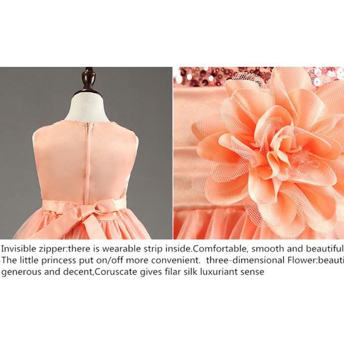 Robe de fille de fleur avec Rose anniversaire C...