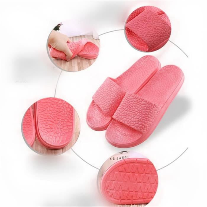 Chaussons de bain Antidérapant Chaussure pour femme Pantoufles Haut qualité Confortable Sandales Pantoufle Plu dssx079bleu41