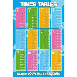 affiche table de multiplication achat vente pas cher. Black Bedroom Furniture Sets. Home Design Ideas