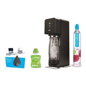 LOT  OUTIL PRÉPARATION  Sodastream  Machine à eau pétillante et soda noire