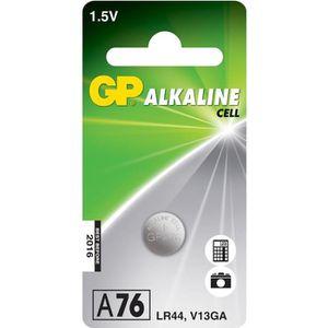 PILES Piles Bouton Alcaline Spéciales - GP A76 / LR44 -