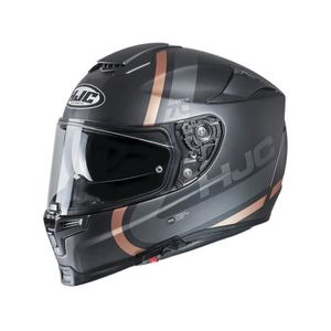 CASQUE MOTO SCOOTER Casque moto HJC RPHA 70 Gaon Or Brun Argent