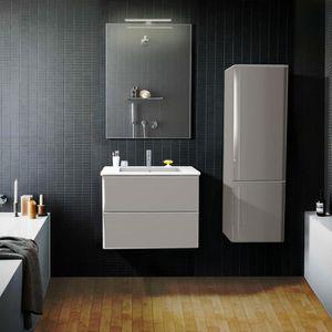 MEUBLE VASQUE - PLAN Ensemble de salle de bain 60 cm Taupe meuble + vas