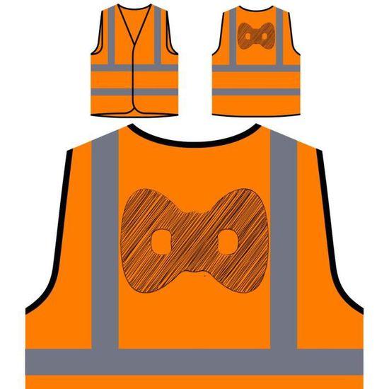 Funny Novelty Veste Art mask De Protection Visibilité Orange Personnalisée Haute Personna Scribble New À zwa6qPZzx