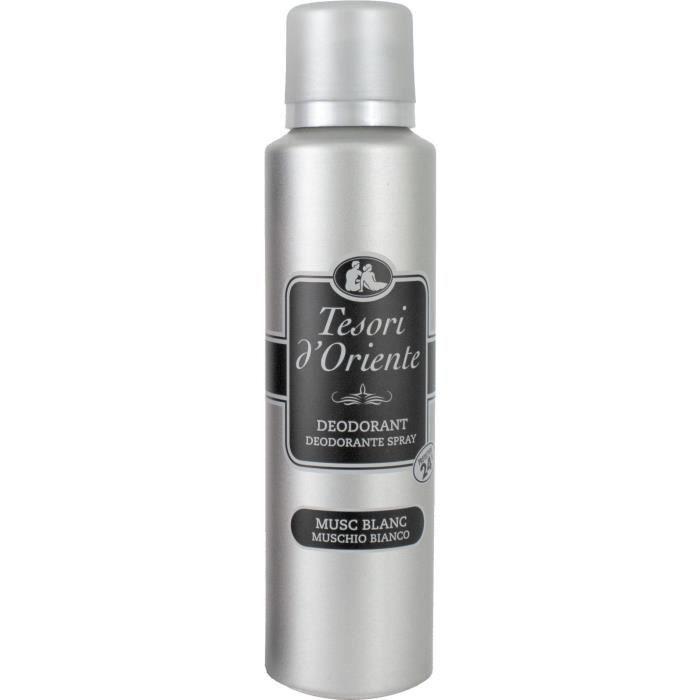 Tesori d'Oriente Déodorant Musc Blanc 150 ml