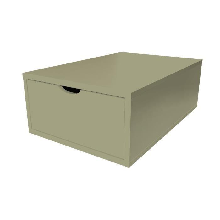 Cube de rangement profondeur 75 cm + tiroir Bois - Couleur - Taupe - Achat / Vente casier pour ...