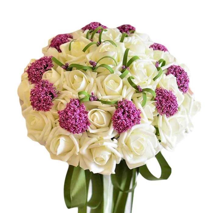 Rose Blanche Bouquet De Mariee De Mariage Fleur Fleurie