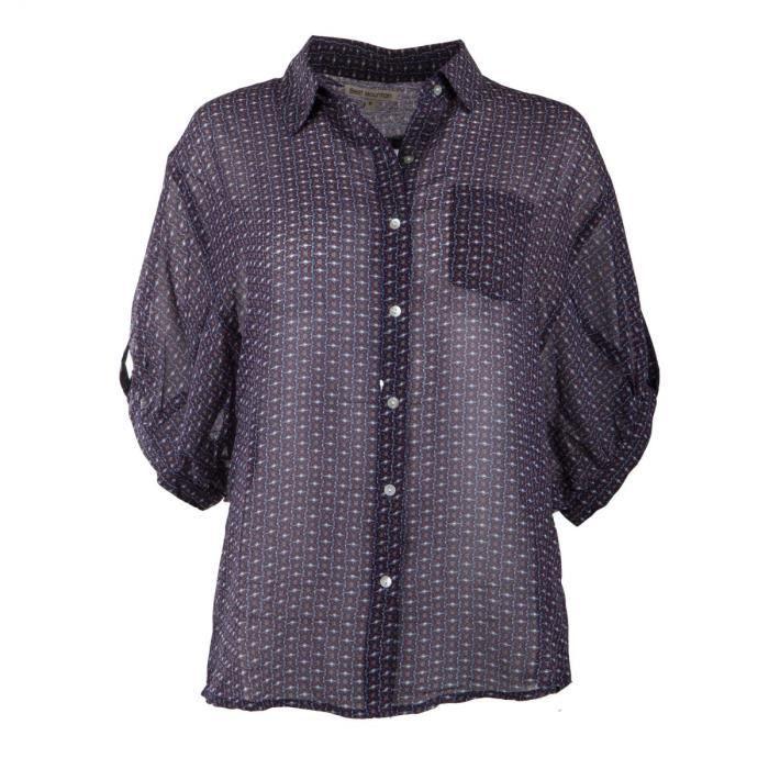 Chemise oversize manches courtes femme BEST MOUNTAIN - Couleur - ROUGE,  Taille Vêtement - Taille unique c1cb5cb55add