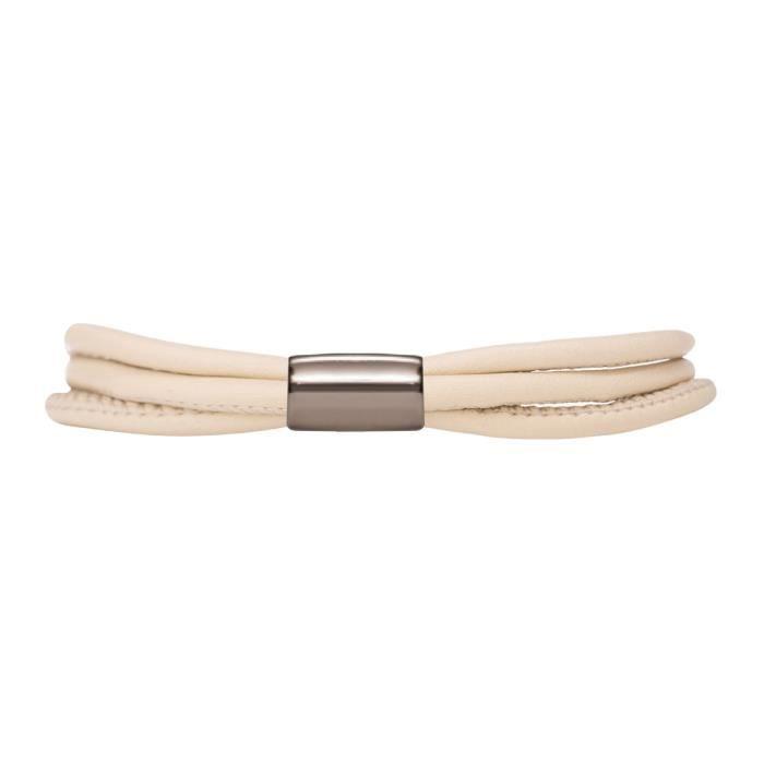 Bracelet ENDLESS Acier Cuir