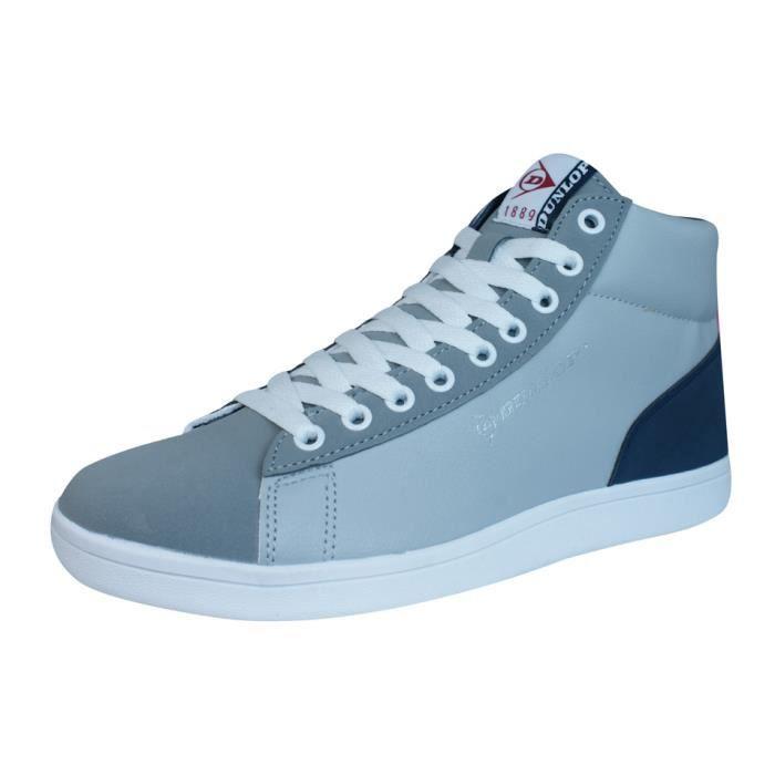 Dunlop baskets Jerez Hommes Hi Top Chaussures à lacets Grey 9.5 Dx64J2dvJc