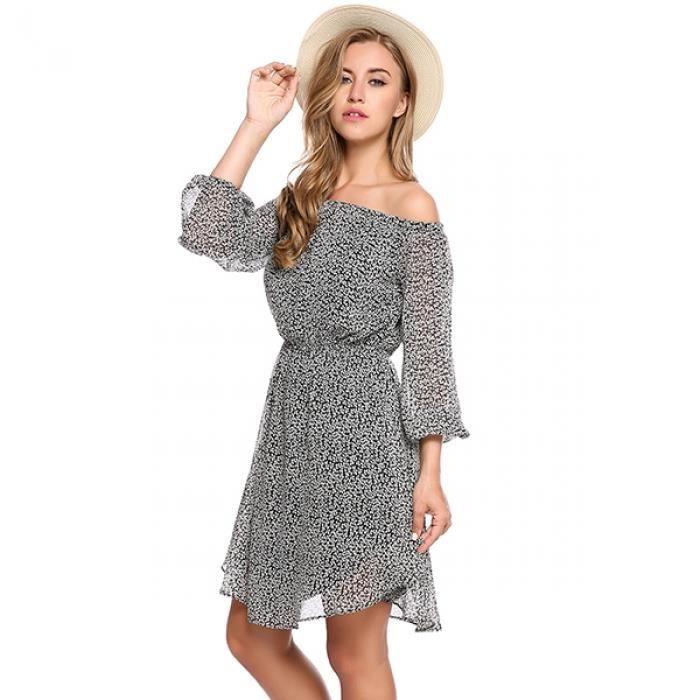 Robe dété Chemise manches longues pour femmes sans manches