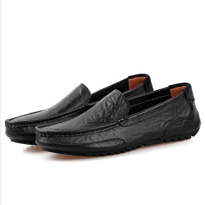 moccasins hommes Marque De Luxe Haut qualité En Cuir Chaussure Travail à la main Poids Léger Classique Grande Taille n8cEBE