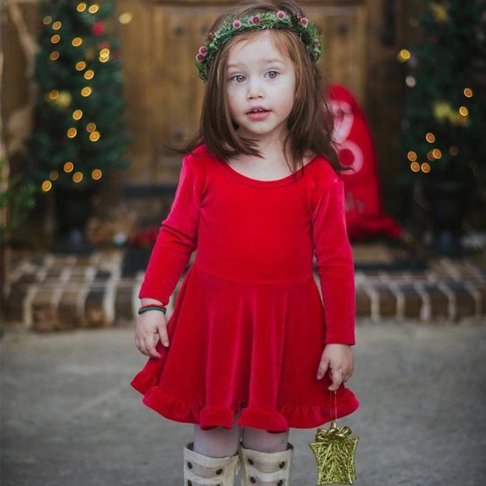 ROBE Fille Robe de soirée pour Nouvel an Noël Grand noe