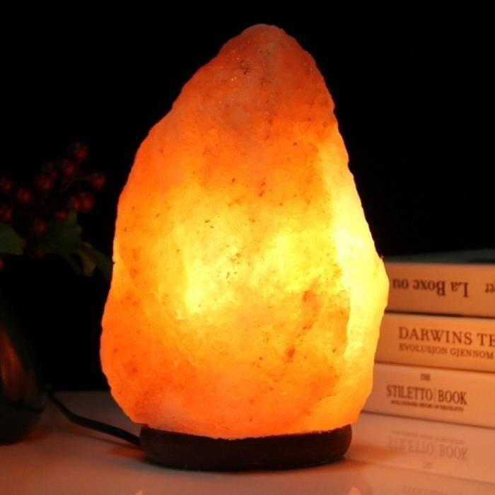 Veilleuse Grand L'himalaya Led Et Ampoule Saine Avec 2w E14 Sel Lampe Roche Cristal Table Switch De Dimmable En Bureau Base Bois n80kwOP
