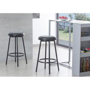 tabouret 4 pieds achat vente pas cher. Black Bedroom Furniture Sets. Home Design Ideas