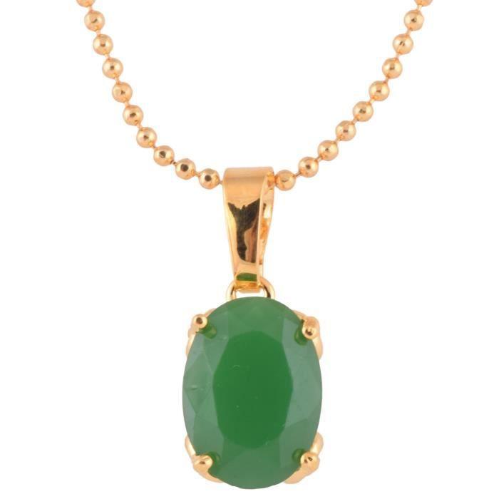 Vert féminin 1 gramme dor plaqué pendentif pourRCCCX