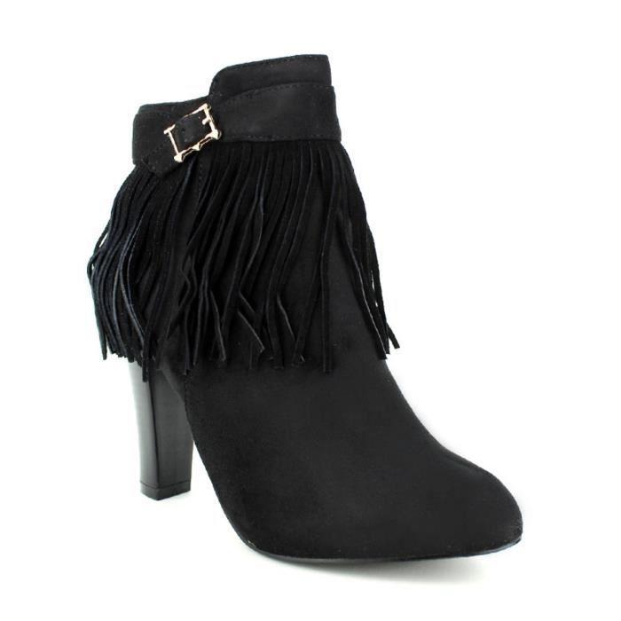 Bottines Bottine Femme Chaussures Cendriyon Noir Boots Tx7w57gqO