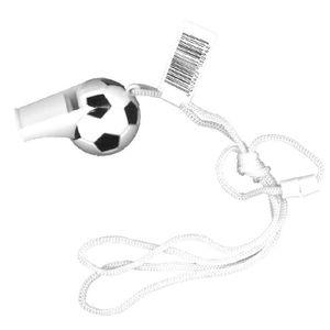 SIFFLET D'ARBITRE Sifflet football blanc/noir avec cordon L