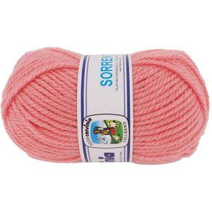 LAINE TRICOT - PELOTE Pelote de laine CERVINIA SORENTO - Rose Bonbon e7079b61a65