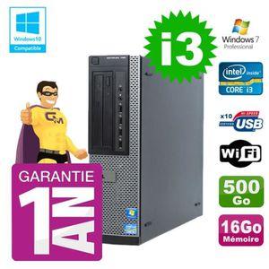 UNITÉ CENTRALE + ÉCRAN PC Dell 790 DT Intel I3-2120 16Go Disque 500Go Gra